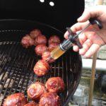 jack daniels Fire Ball Meatballs injecteren met whisky