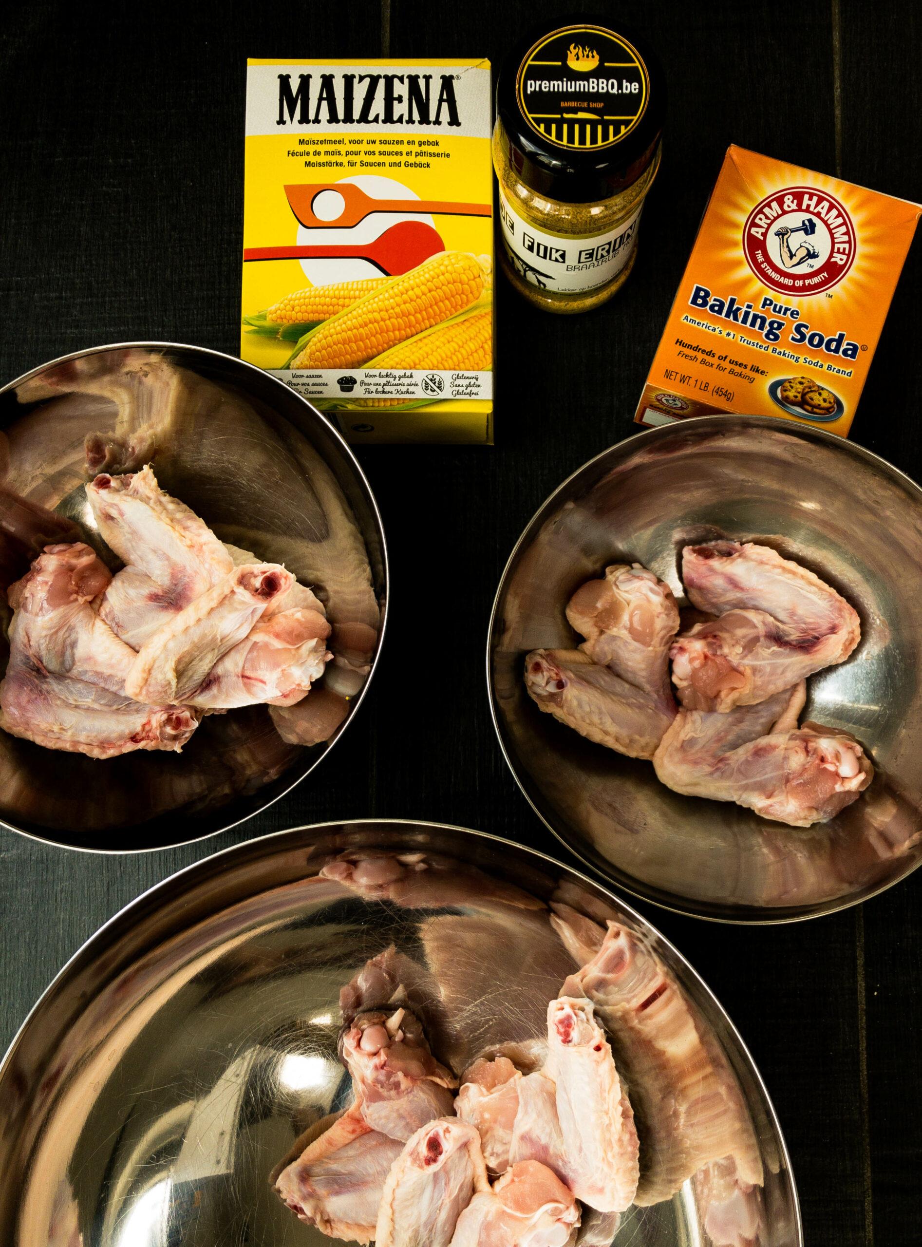 verdeel de kippenvleugels