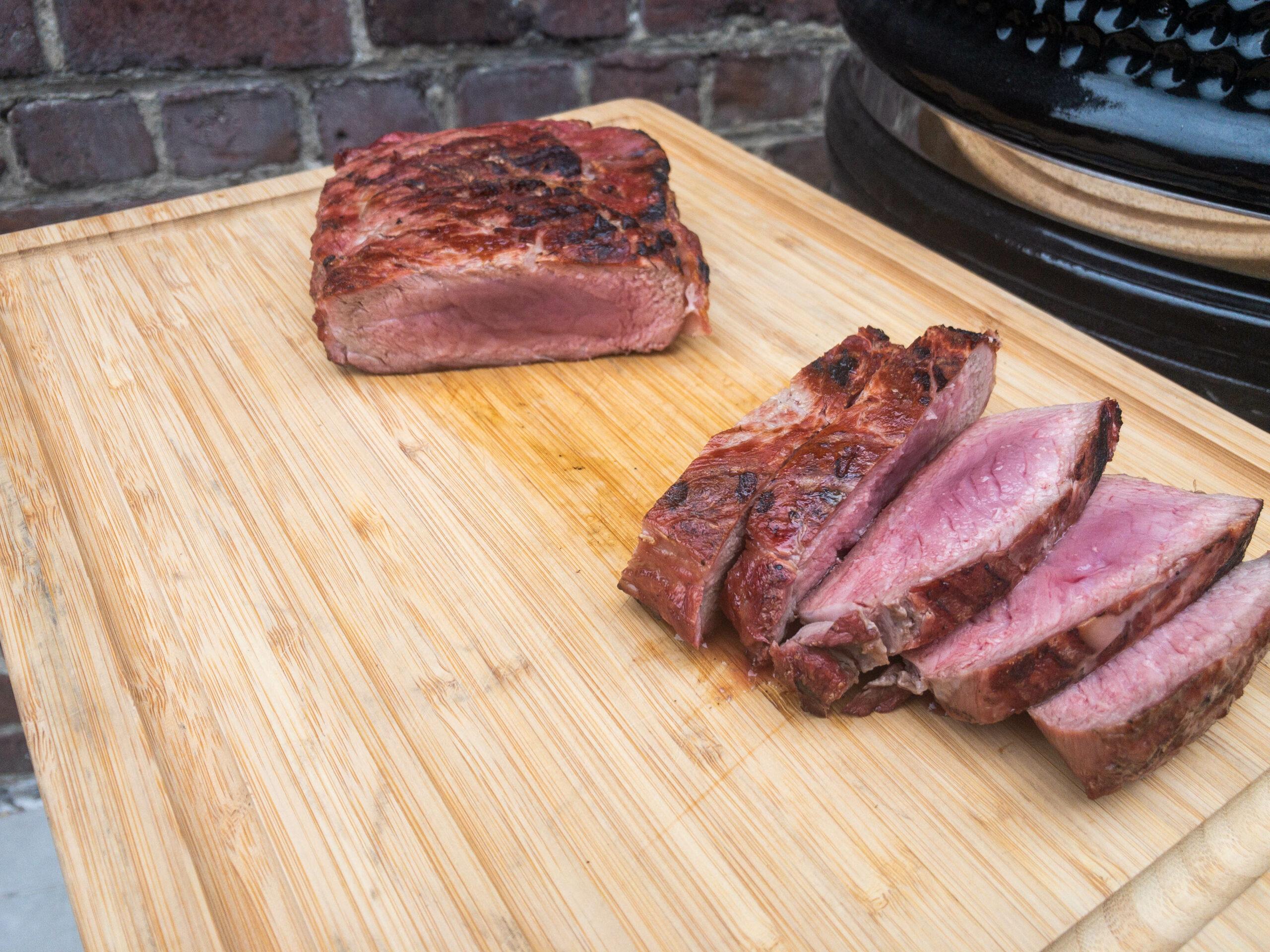 het resultaat van de bevroren steak