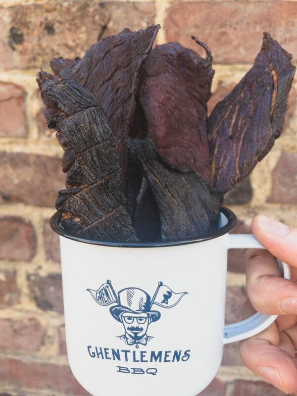 beef jerky enamel coffee mug